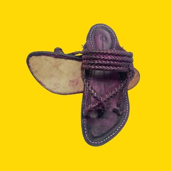 3 Braid Gandhi Belt Design Men's Kolhapuri Chappal