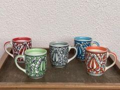 Hand-Painted Mughal Mug (1Pc)