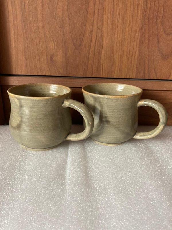 Handmade Wheel Crafted Ceramic Mug (1Pc)