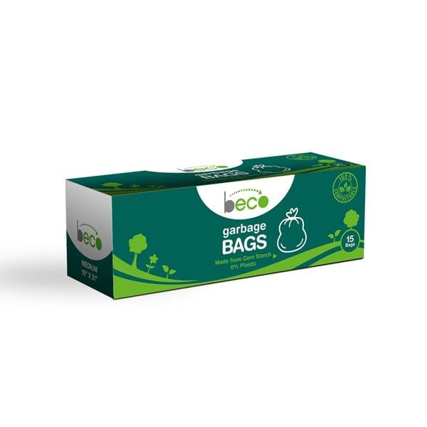 Compostable Medium Garbage Bags 15 Pieces - Pack of 3