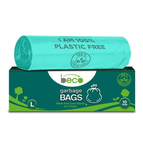 Compostable Large Garbage Bags 10 Pieces - Pack of 3