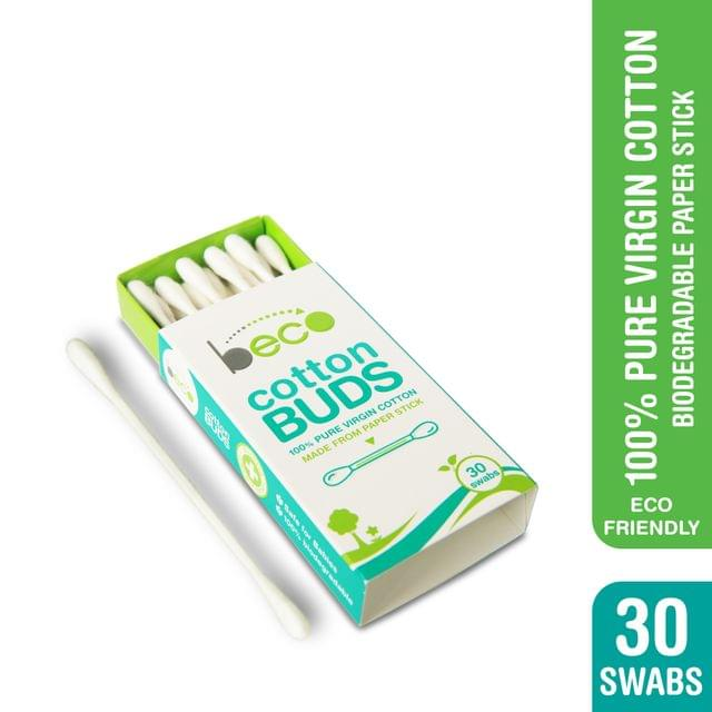 Cotton Buds with Paper Stick - 15 Sticks (30 Swabs ) - Pack of 10