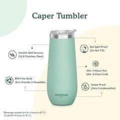 Caper Mint Stainless Steel Tumbler - 270 ml