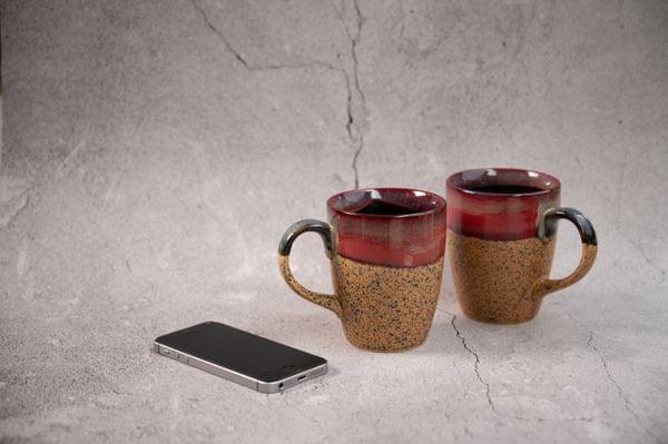 Earthen Cool Brown Coffee Mug Set of 2 Mugs – 1 Set